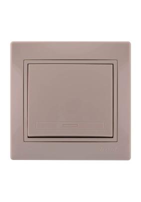 Выключатель 1 СП/Lezard/крем./701-0303-100/