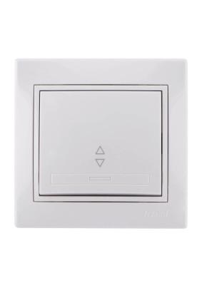 Выключатель 1 СП/Lezard/бел./проход./701-0202-105/