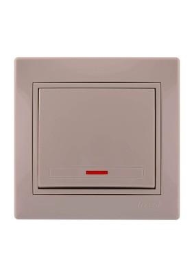 Выключатель 1 СП/Lezard/крем./подсветка/701-0303-111/