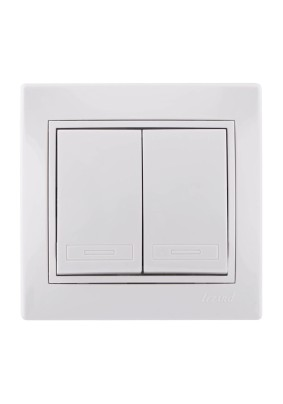 Выключатель 2 СП/lezard/бел./701-0202-101/