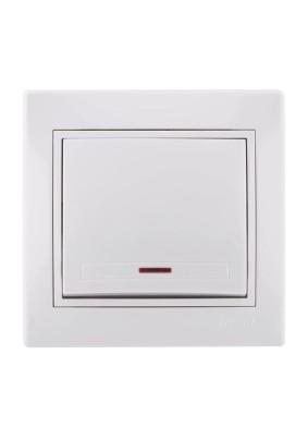 Выключатель 1 СП/Lezard/бел./подсветка/701-0202-111/