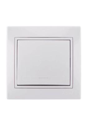 Выключатель 1 СП/Lezard/бел./701-0202-100/