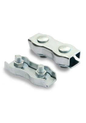 Зажим соединительный д/троса 2 мм /двойной/ DUPLEX