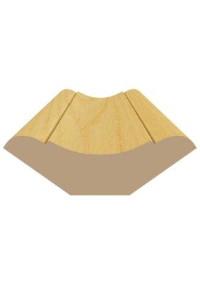 Плинтус деревянный 42х2.5м фигурный /Вологда/