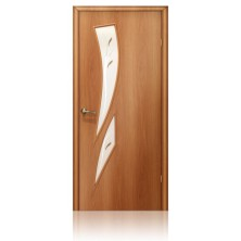 Дверное полотно ДОФ Стрелитция-700/мил.орех/
