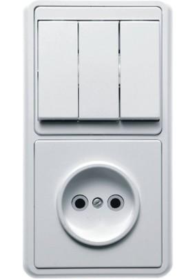 Блок комб. /3 выкл.+розетка/БКВР-039