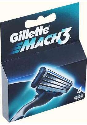 Лезвие Gillette Mach3 4шт