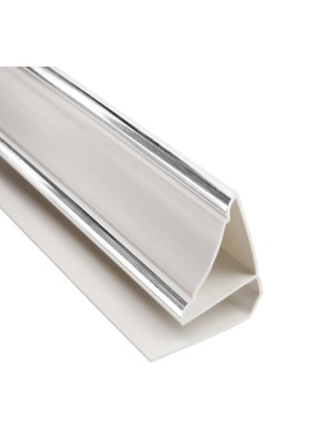 Плинтус серебр.вст. пвх/P2S/2,7м