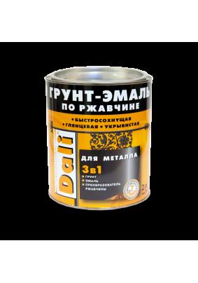 Грунт-эмаль по ржавчине Dali черная/2 кг/