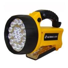 Фонарь прожектор Ultraflash 3712/аккум. 220В, 19+8LED