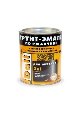 Грунт-эмаль по ржавчине Dali коричневая/2 кг/