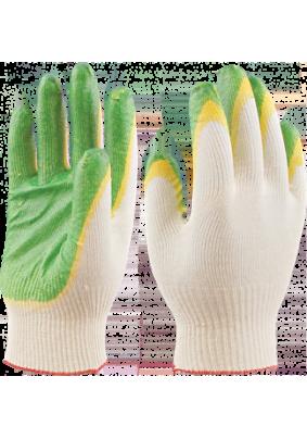 Перчатки трикотажные с латексом (двойной облив) ПЕР 021