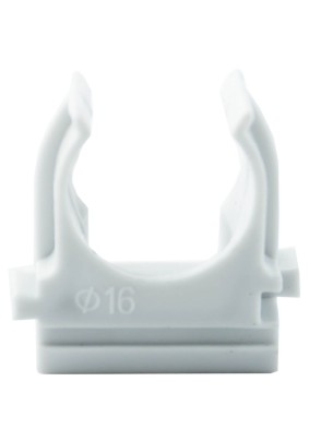 Крепление (клипса) д/трубы ПВХ Ø16