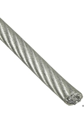 Трос стальной в оплетке ПВХ 3мм/4мм DIN3055