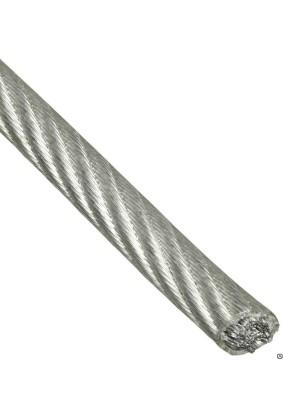 Трос стальной в оплетке ПВХ 5мм/6мм DIN3055