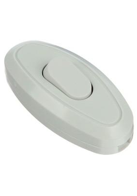 Переключатель на шнур 6А/белый/Universal