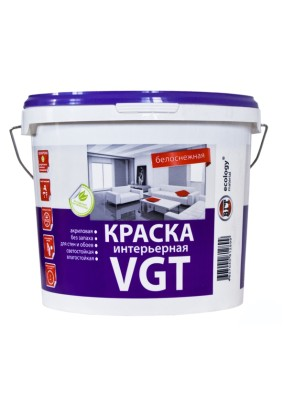 Краска интерьерная ВГТ ВД-АК-2180 белоснежная/15 кг/