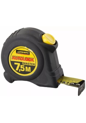 Рулетка STAYER 7.5м х 25мм AutoLock/2-34126-07-25/(1/6)