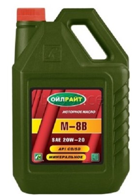 Моторное масло Oil Right  М-8В 20W-20 минеральное 5л