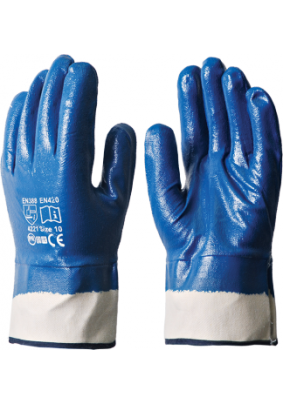 Перчатки нитрил. МБС /маслобензостойкие/жест.манж./КП/Пер 306