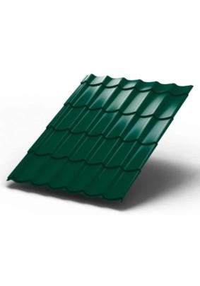 Металлочерепица Монтеррей 1190х0,45/ RAL 6005/ Зеленый мох/ Стандарт