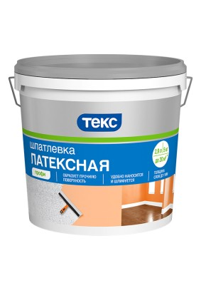Шпатлевка латексная готовая ПрофиТекс/16 кг/