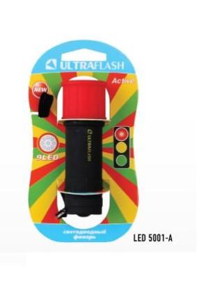 Фонарь ручной Ultraflash 15001-A/красный с черн., 9LED, 3xAAA