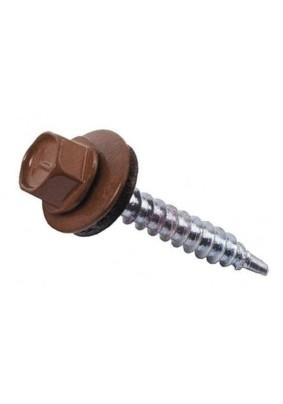 Саморез кровел. 5.5х19 /RAL8017/коричневый шоколад