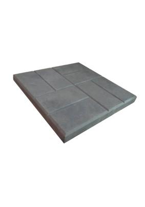 Восемь кирпичей серая Плитка тротуарная 40х40х5 /1м=-6шт=113,4кг/под=15м/