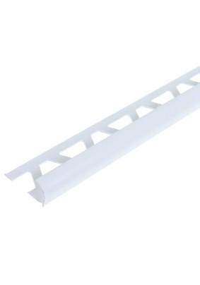 Раскладка наруж. для плитки 8 мм /белая/ 2,5м