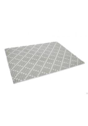 Щетинистое покрытие на ПВХ основе серый металлик 0.9 м