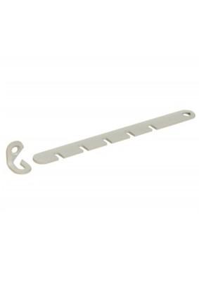 Ограничитель для пластиковых окон/металл белый