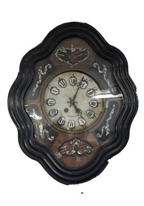 Часы антикварные красное дерево, черная полироль, перламутр/Голландия конец 19 века