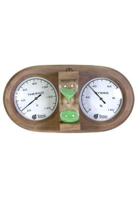 Термометр с гигрометро с песочными часами/18028/