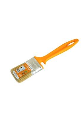 Кисть КФ-50 желтая ручка/для эмалей/натуральная светлая щетина
