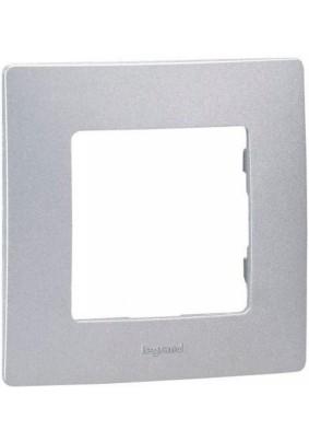 Рамка 1 ETIKA/алюм./Leg 672551