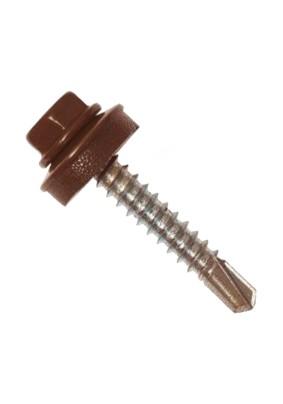 Саморез кровел. 5.5х25 /RAL8017/коричневый шоколад