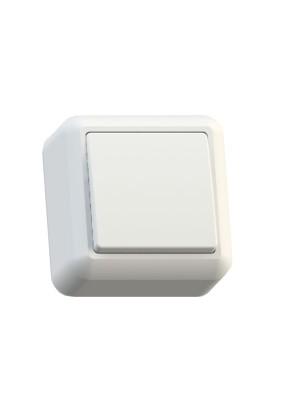 Выключатель 1 ОП Оптима А110-377 с изолир. пласт. белый, 250В 10А (инд.уп.)