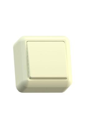 Выключатель 1 ОП Оптима А110-377 с изолир. пласт. сл. кость, 250В 10А (инд.уп.)