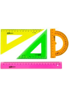 Набор чертежный средний /треуг.2шт., транс-р, лин.20см/256258/256257