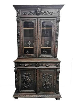 Буфет антикварный охотничий стиль/Бельгия (Мехелен) середина 19 века/дуб