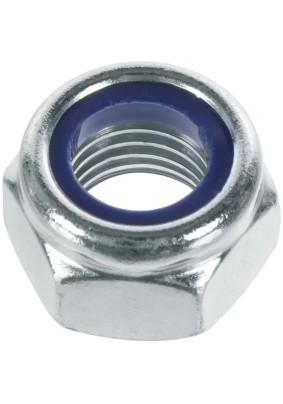 Гайка с нейлон. кольцом оцинк. М10 DIN985
