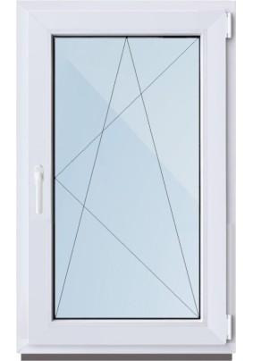 Окно ПВХ-58мм/ 1- стеклопакет/ ШхВ 720х1160мм/ 100% правое поворотно откидное/