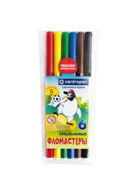 """Фломастеры """"Пингвины""""/6цв./062724/"""