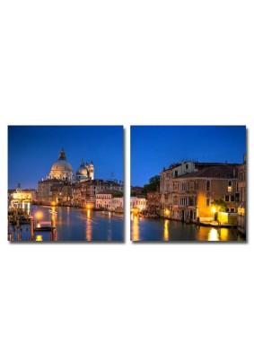 Канвасы IDEA Венеция каналы 50х50 /комплект 2 шт/ CT2-07/ПостерМаркет