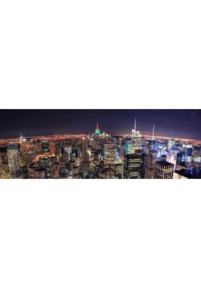 Картина на стекле Ночной мегаполис 33х95  AG 33-01/ПостерМаркет