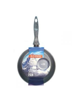 Сковорода антиприг. Scovo Stone Pan 240мм б/кр./ST-003