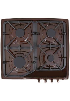 Варочная панель газовая Gefest CH1210K7/48721/коричневая, 4 конф., чуг. решетка/