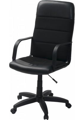 Кресло Чери Биг/черный/кожа искусственая,ткань/до 100 кг