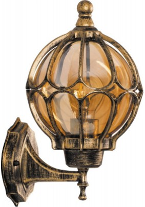 Светильник садово-парковый, 60W 230V E27 IP44 черное золото, PL3701, 11349